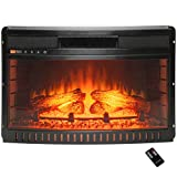 AKDY 26'' Freestanding Push Button Control Adjustable Electric Fireplace Heater Stove Insert w/ Remote Control