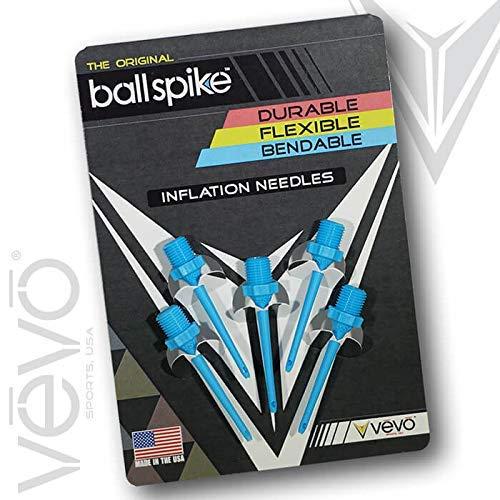 TALLA Pack De 5. ballspike inflación Agujas por Vevo deportes Estados Unidos Durable/Flexible/Flexible., Azul