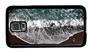 Hipster for sale Samsung Galaxy S5 Cases beach wave foam PC Black for Samsung S5