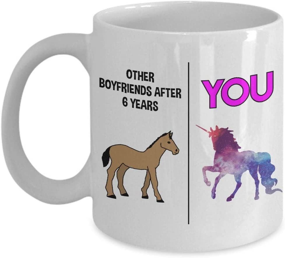 6 años regalo de aniversario de citas para novio 6 años regalo de citas taza de novio 6 años juntos regalo de aniversario para hombres regalo de citas