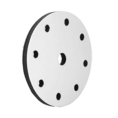 Soft Sponge Cushion Pad, Walfront 150mm Diameter Soft Buffer Sponge Interface Cushion Pad for Sanding Pads 6/9/15/17 Holes (Optional)(9 holes): Home Improvement
