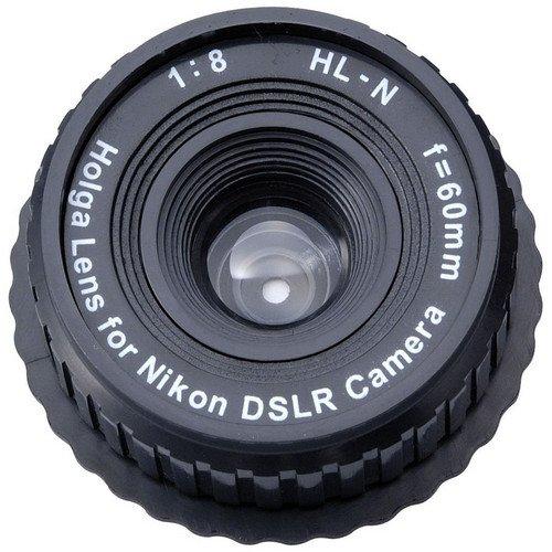 Price comparison product image Holga 60mm f / 8,  Manual Focus Lens for Nikon DSLR Camera