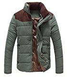 zara man quilted jacket - Shining4U Men's Casual Thicken Warm Quilted Down Puffer Jacket Coat ArmygreUS-XS