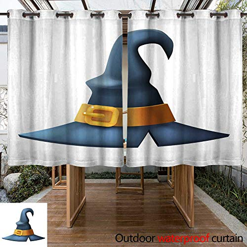 RenteriaDecor Outdoor Curtains for Patio Waterproof Witch hat