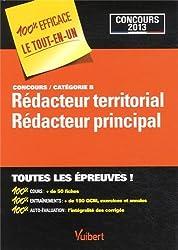 Concours Rédacteur et Rédacteur principal territorial Catégorie B - Toutes les épreuves 100 % EFFICACE Le tout-en-un - Concours 2013