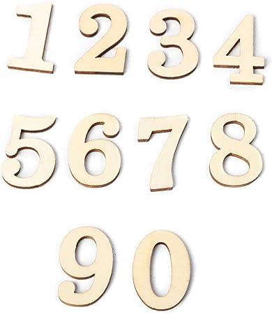 MB-LANHUA 10 Piezas DIY números de Madera 0 a 9 Tablero de Letrero Decorativo para Manualidades de Banquetes de Boda decoración del hogar: Amazon.es: Hogar