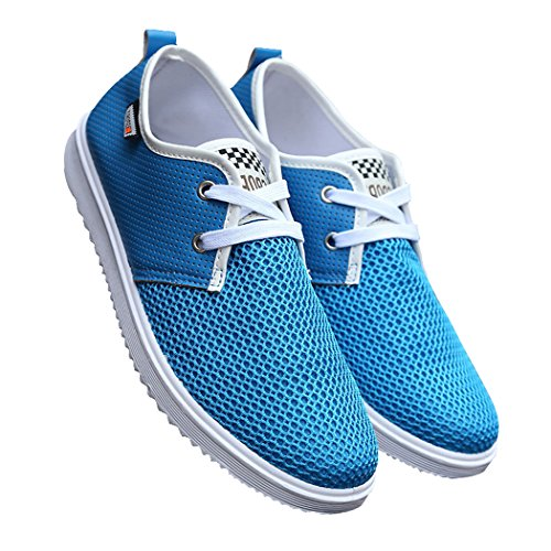 Zon Lorence Heren Casual Lichtgewicht Lace-up Populaire Mode Mesh Sneakers Blauw 39