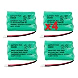 4 Fenzer Rechargeable Cordless Phone Batteries for V-Tech Model 27910 Cordless Telephone Battery Replacement Packs, Office Central