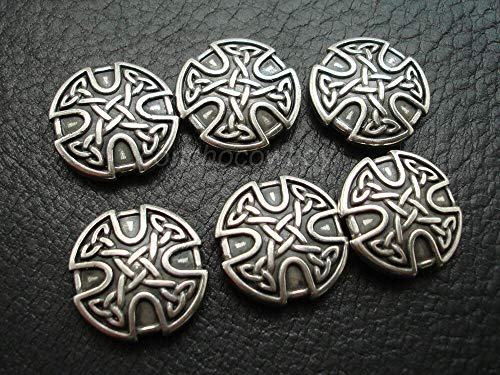 JumpingLight Set of 6 Western Horse Saddle TACK 1'' Antique Celtic Cross Conchos Screw Back Perfect for Crafts, Scrap-Booking, Jewelry, Projects, Quilts