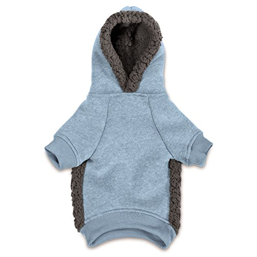 Casual Canine Cozy Dog Hoodie, Large, Blue
