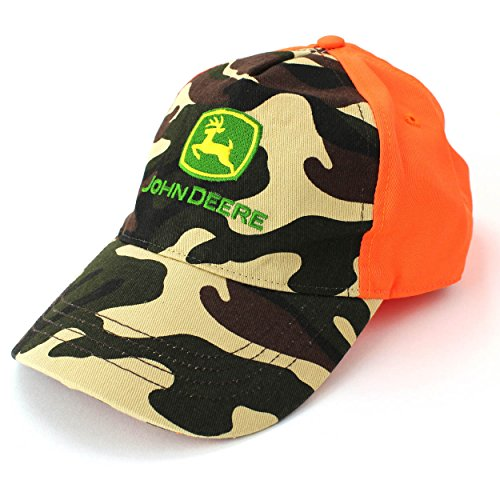 John Deere Hunter Orange Boys Hat Cap (L/XL(10-14))