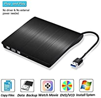 Amazon.com: Disco CD externo USB 3.0 Ultra Slim Portable, CD ...