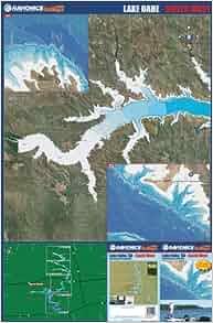 Lake Oahe South West Fishing Map