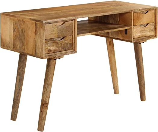 Unfade Memory Solid Mango Wood Writing Desk Make a Great Addition to Study Room or Office
