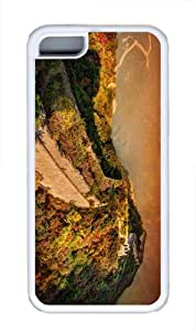 case great wall of china TPU White Case for iphone 5C