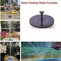 Amyove Bomba Agua Panel Energía Solar Mini Fuente de Agua Flotante Solar para jardín Piscina Estanque decoración