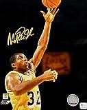 Magic Johnson Signed Autograph 8x10 Photo LA Lakers Sky Hook Shot GAI COA