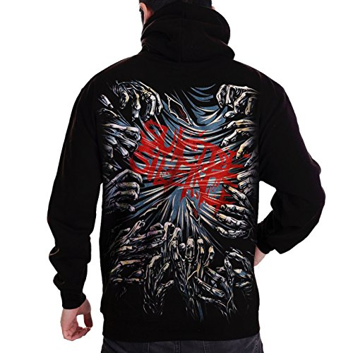 Stand-Zone Suicide Silence No Time to Bleed T Shirt,Sleeveless,Zip Hoodie (Zip Hoodie Medium Chest 19