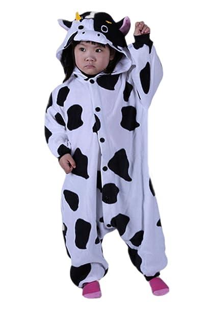 DATO Niños Animal Ropa de Dormir Vaca Lechera Cosplay Disfraces Pijamas: Amazon.es: Ropa y accesorios
