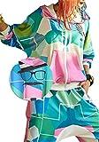 Street Dance Girls Stylish Sport Outfits Womens Camo Hoodie Jacket Zip Pockets