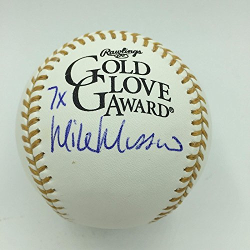 Inscribed Gold Glove (Rare Mike Mussina Signed Inscribed Rawlings Official Gold Glove Baseball JSA COA)