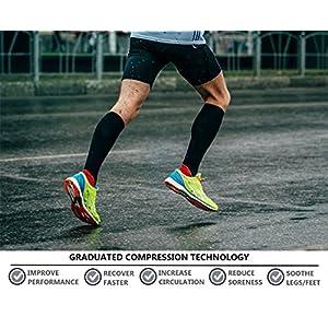 8 Pairs Compression Socks Women & Men -Best Medical,Nursing,Travel & Flight Socks-Running & Fitness,Pregnancy & Maternity-15-20mmHg (L/XL, BLACK)