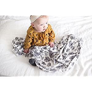 "Large Premium Knit Baby Swaddle Receiving Blanket""Rowan"" by Copper Pearl"
