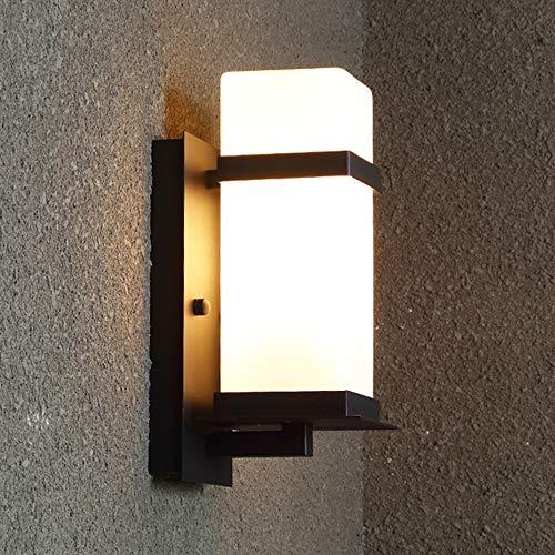 IMEFF LED Wall Lantern, Vintage Wrought Iron Waterproof Wall Lighting Fixture Decoration for Exterior Patio Garden Gate Villa, E27 Base
