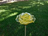 Solar Yellow Rose Blossom Light , Multi-color Color Changing LED Flower Garden Stake Outdoor Yard Decorative Landscape Lamp , Perfect Gift
