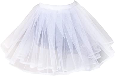 Roydoa - Falda tutú de doble capa para mujer, color blanco: Amazon ...