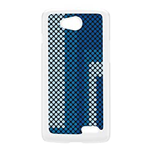 Digital Dots - Blue White Hard Plastic Case for LG L70 by Gadget Glamour + FREE Crystal Clear Screen Protector