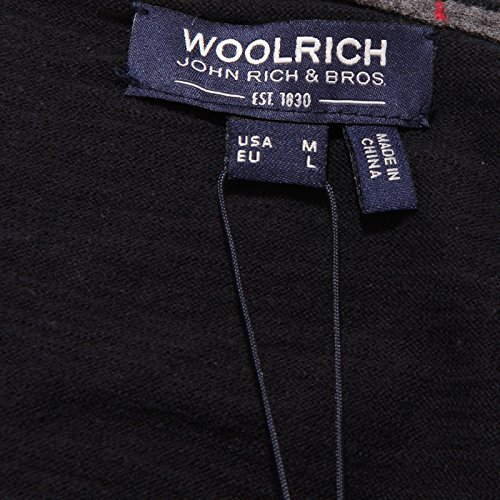 Cotton Woolrich Uomo Dark 7244w Blu Sweater Blue Scuro Maglione Men rqTwOT
