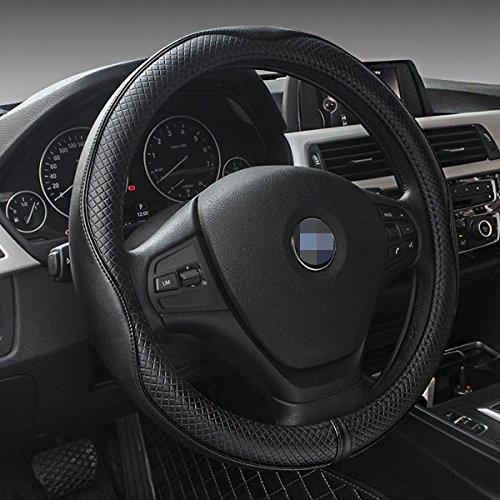 [해외]자동차 가죽 스티어링 휠 커버 범용 통기성 방지 슬립 휠 슬리브 보호대/Car Leather Steering Wheel Cover Universal Breathable Anti-slip Wheel Sleeve Prot