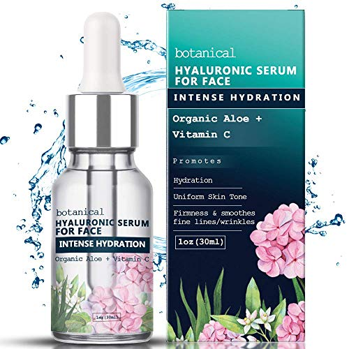 51SR%2BdaQ93L - Hyaluronic Acid Serum for Face, Repairs Damaged Skin, All Natural with Vitamin C, E, Jojoba Oil, Witch Hazel. (Anti Aging Formula)