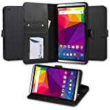 BLU Studio 7.0 II Case, Abacus24-7 Studio 7.0 II Wallet Case, Leather Studio 7 II Flip Cover with Card Holder and Kickstand - Black Flip Case for BLU Studio 7.0 II Phone (S480u)