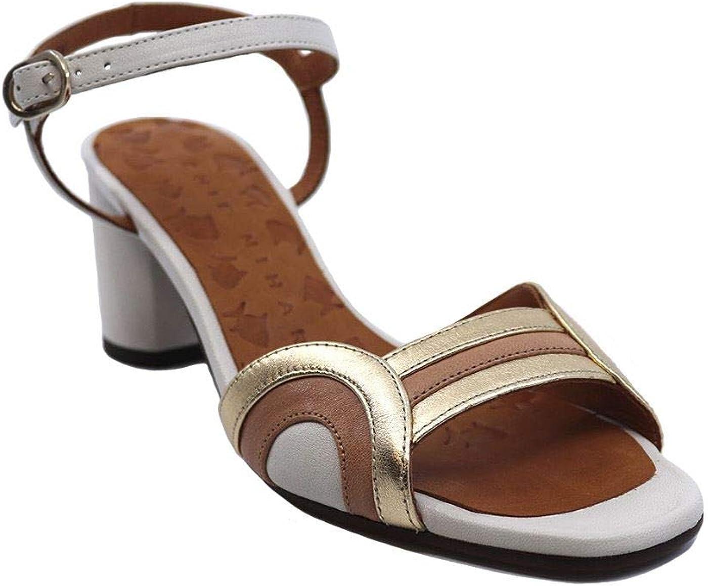 Chie Mihara LOSMA-P Sandales pour femme en cuir blanc Blanc
