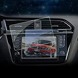 HIGH FLYING 6.5 inch Display Touch Screen Tempered Glass Protector Radios Screen Protector Invisible Ultra HD Clear Film Anti Scratch Skin 2PCS For VW Volkswagen Tiguan 17-18, Touran 16-18