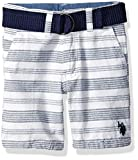 U.S. Polo Assn.. Toddler Boys' Short, Striped with Navy Belt Classic Navy, 2T