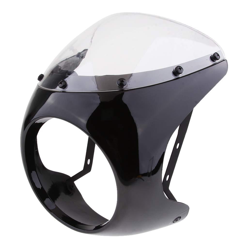 Nero opaco Almencla Sostituzioni di Coperchio Carenatura Faro Moto con Kit di Accessori di Montaggio