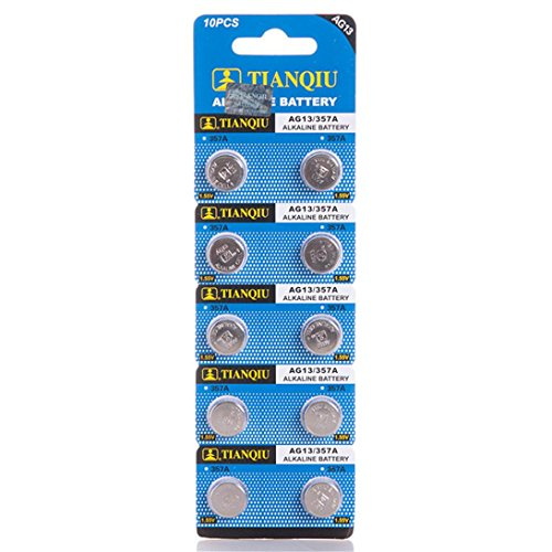 Nacome For Fingerlings Baby Monkey Toy Battery ,10 /20/50Pcs AG13 Finger Baby Monkey Dedicated Button Battery/ Monkey Climbing Toy (0% HG) (A # 10 PCS)