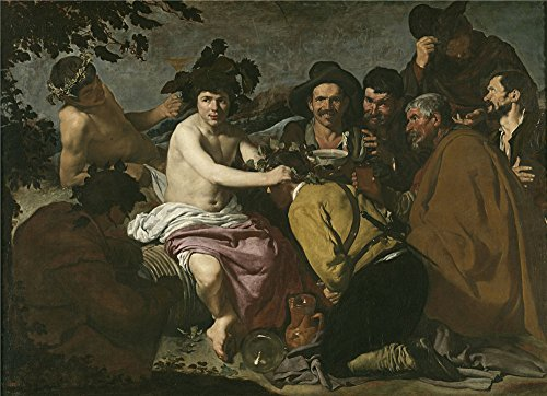 The High Quality Polyster Canvas Of Oil Painting 'Velazquez Diego Rodriguez De Silva Y The Triumph Of Bacchus Or The Drinkers 1628 29 ' ,size: 10 X 14 Inch / 25 X 35 Cm ,this High Quality Art Decorative Canvas Prints Is Fit For Home Office Artwork And Home Artwork And Gifts]()