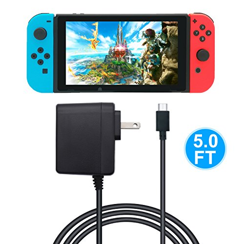 AC Adapter for Nintendo Switch - FYOUNG Power Supply Charger for Nintendo Switch with 5FT Power Cord 15V 2.6A (Support TV Mode and Switch Pro Controller)