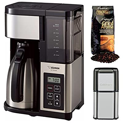 Zojirushi EC-YSC100-XB Fresh Brew Plus Thermal Carafe Coffee Maker + Cuisinart Coffee Grinder and Coffee Beans