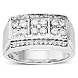 Forever Classic Mens Round 3.0mm Moissanite Wedding Band-size 10, 0.84cttw DEW By Charles & Colvard