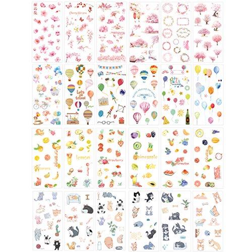 Kawaii Stationery Sticker Set Balloon Pet Dog Fruit Sticker Label for Scrapbooking Album Decoration Art DIY Craft (Kawaii Balloons)