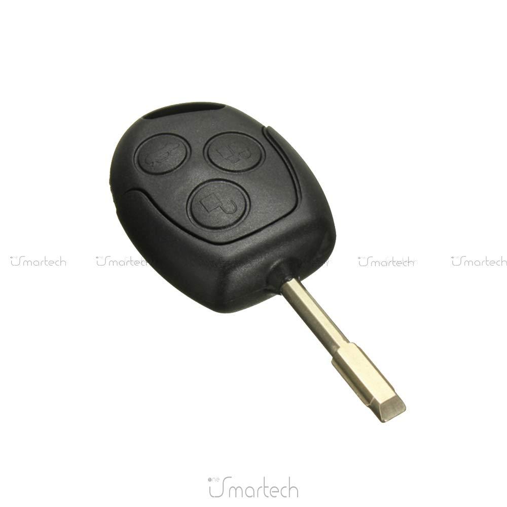 AUDEW 3 TASTI COVER GUSCIO CHIAVE TELECOMANDO PER Ford Mondeo Fiesta Focus KA TRANSIT