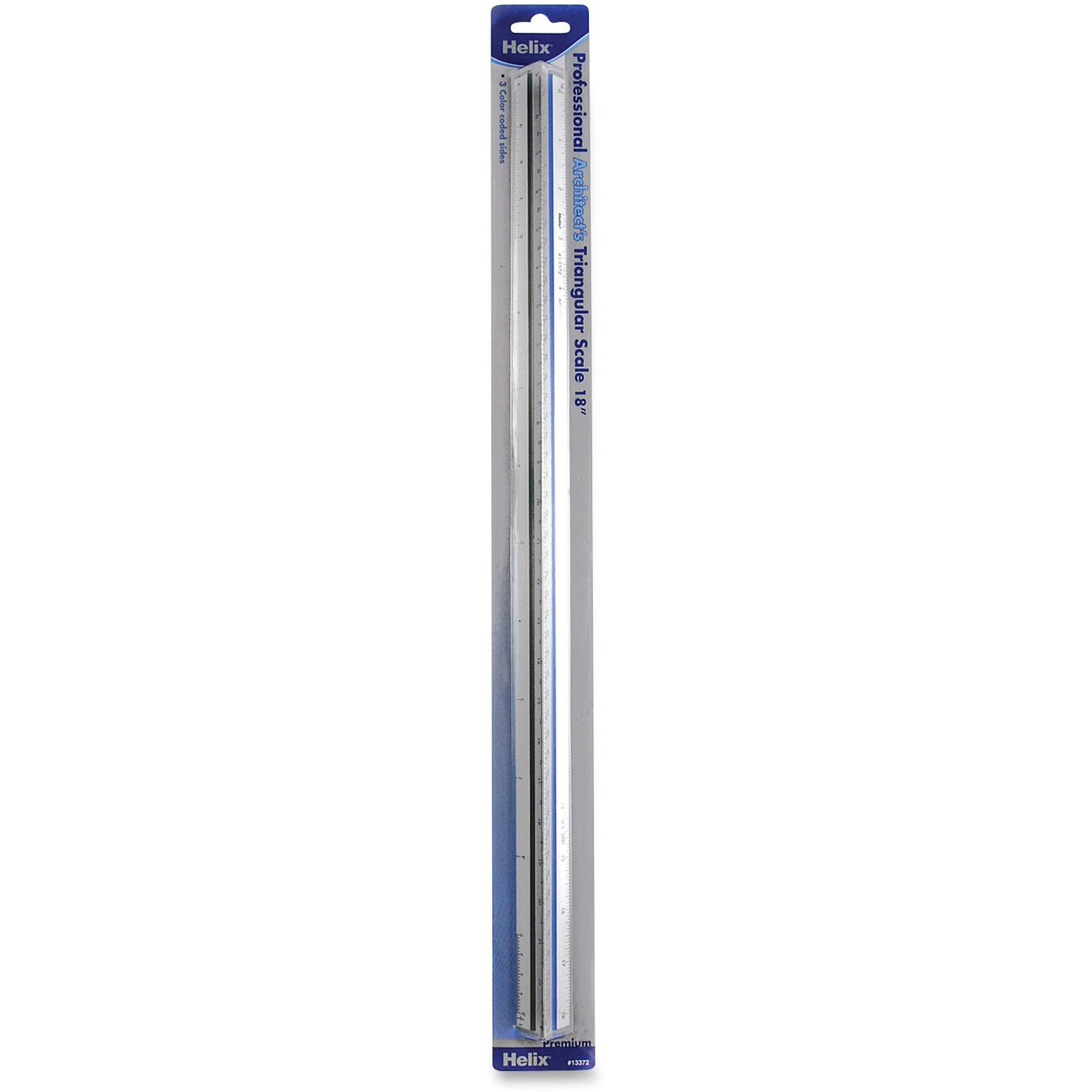 Helix Professional Architect's Metal Triangular Scale 18 Inch / 45cm (13372)