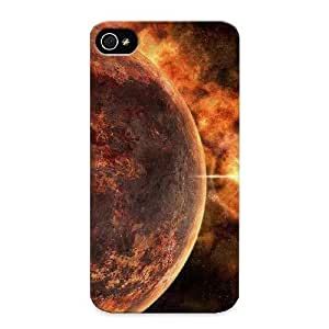 Durable Case For The Iphone 5C - Eco-friendly Retail Packaging(fire Planet) WANGJING JINDA