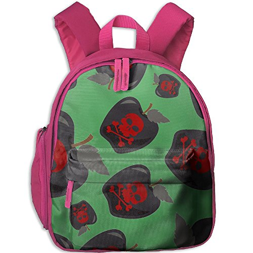 Noxious Apple Skull Boy Multifunction Student Backpacks Oxford School Bags Print SchoolBags For Travel Camping - Black Oxford Apples