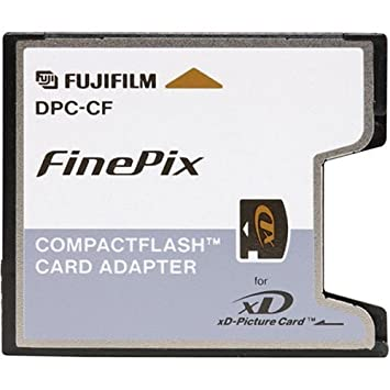 Amazon.com: Fuji XD adaptador de tarjeta CompactFlash para ...